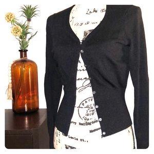 Ann Taylor classic cardigan black XS